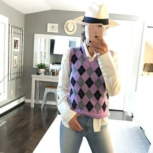 Brooks Brothers checkered preppy vest medium